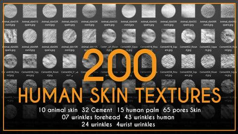 200 Human Skin Textures