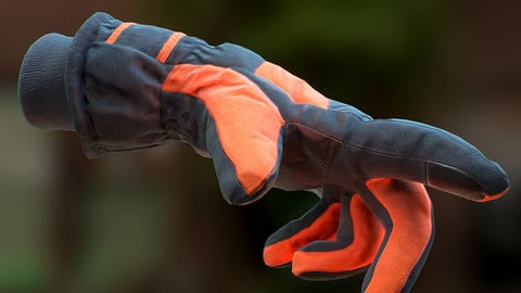 Gloves with Procedural Material for VR and Games