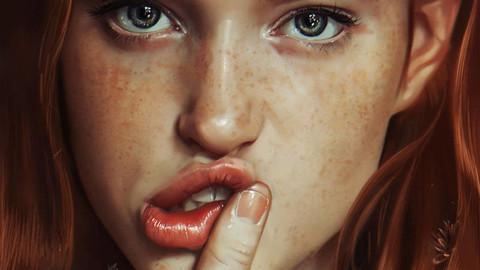 Realistic Portrait Painting ( 91 layers + 10 Bonus Illustration JPG Files ! )