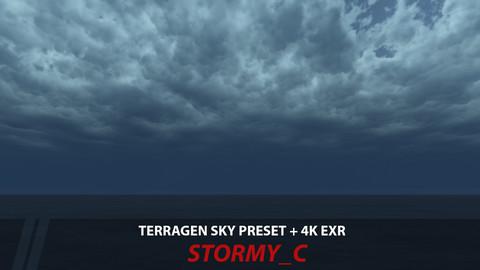 Terragen 4 sky preset -- Stormy_C