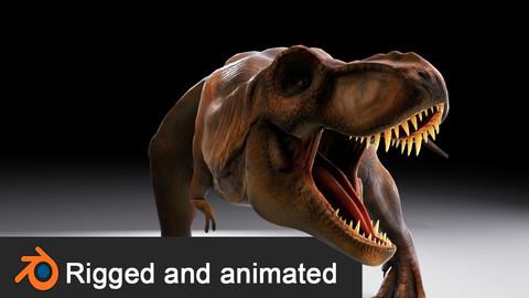 Jurassic Park Tyrannosaurus Rex 3D Model Low-poly