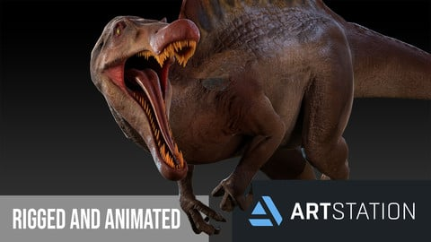 Spinosaurus For your Games or Animation 3D Model