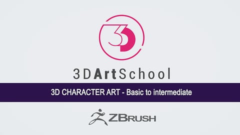 3D Character Art in Zbrush: Basic to Intermediate 16 Vols - 3D Art School [Download]