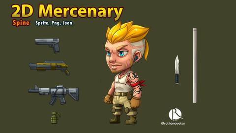2D Chibi Mercenary Game character (Spine)