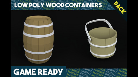 Wood Barrel/Bucket - Pack
