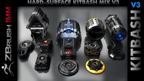 Kitbash Hard-Surface Mix V3