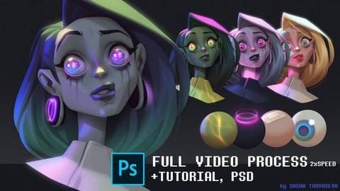 How to render character with photoshop tools