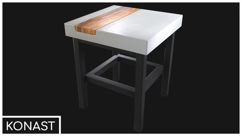 Modern Table VR / AR / low-poly 3d model