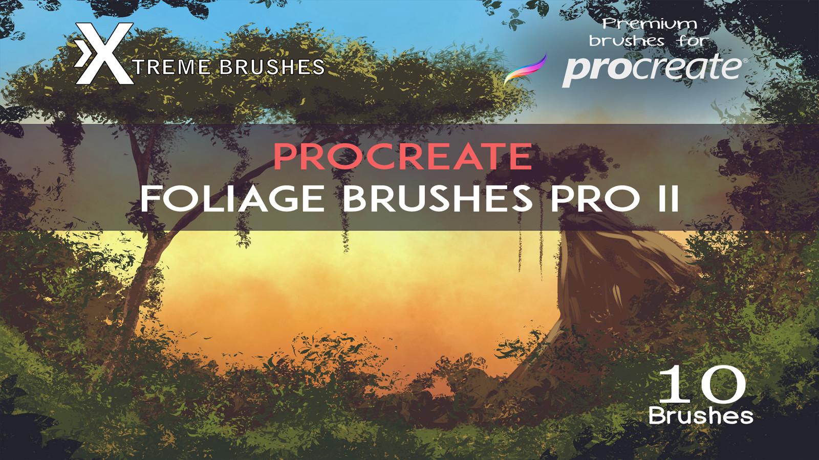 Procreate Foliage Brushes PRO II by Rodd Lopes