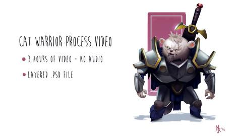 Cat Warrior Character Design Process Video