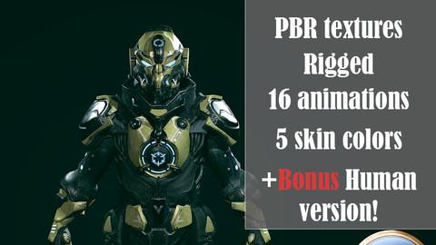 3D Battle suit Destroyer model Low-poly 3D model