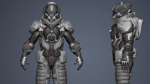 3D Battle suit Destroyer model Highpoly