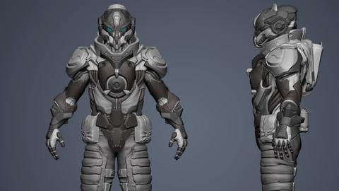 3D Battle suit Destroyer model Highpoly