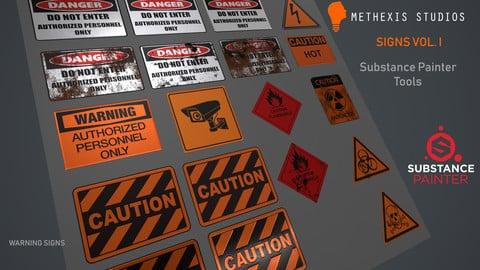 Sign Decals Volume I - Substance Painter Tools