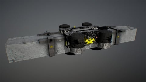 Space Support LOW POLY PBR