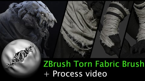 ZBrush Torn Fabric Brush
