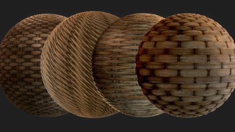 4K PBR Wicker Basket Textures
