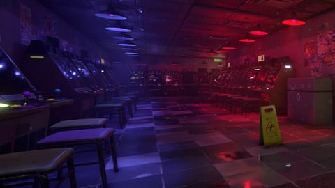 UE4: Procedurally Generated Arcade Environment Pack