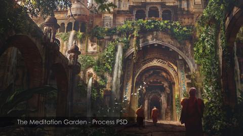 The Meditation Garden - Process PSD