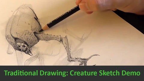 Traditional Drawing: Creature Sketch Demo