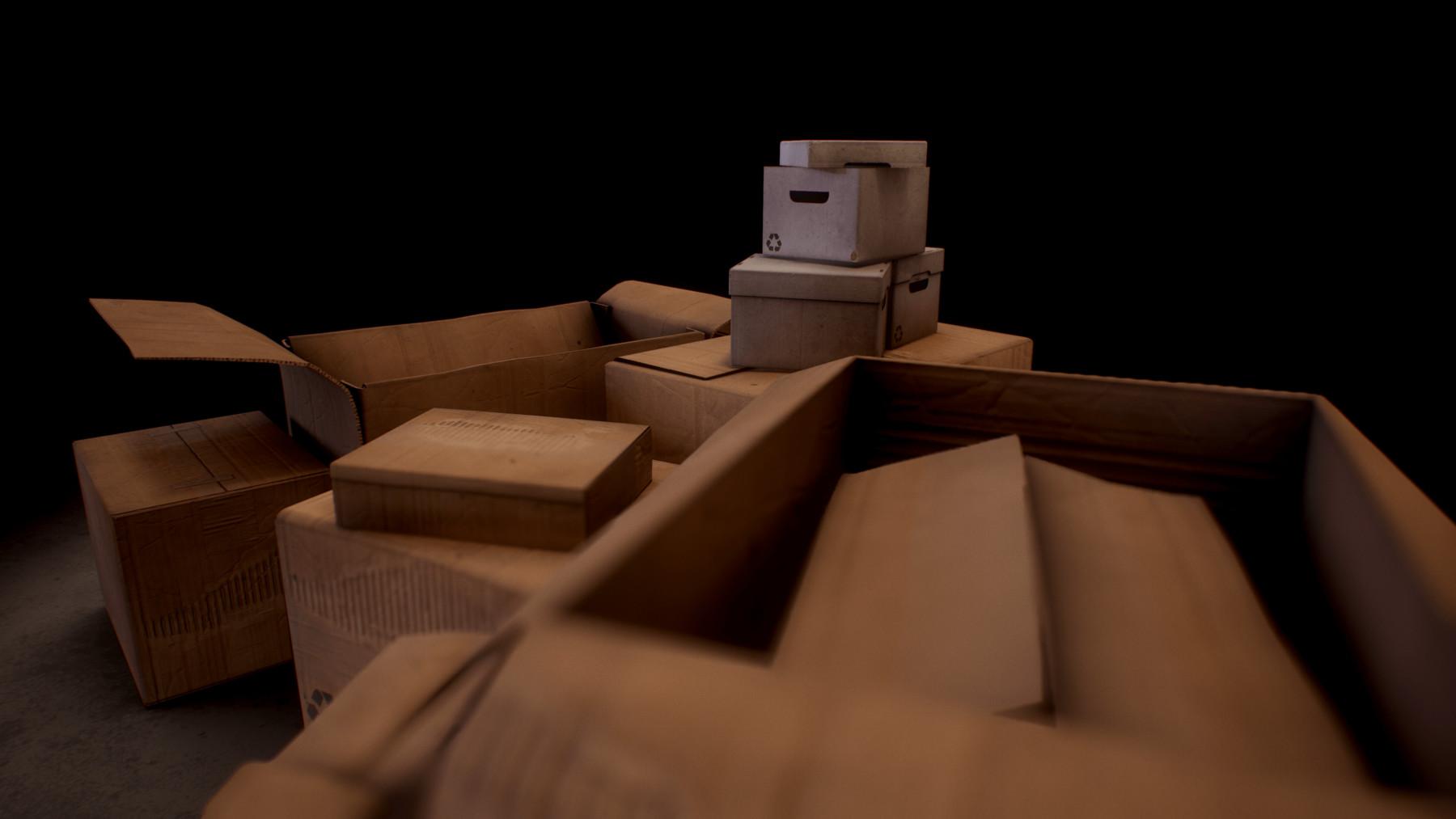 Ducky Duckling - Technical Artist - PBR Cardboard Boxes
