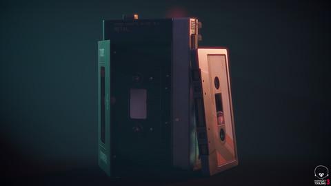 Vintage 1980s Cassette Player Walkman