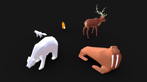 Northpole Lowpoly Animal Set
