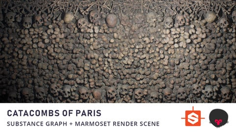 Paris Catacombs Substance Material + Marmoset Render Scene