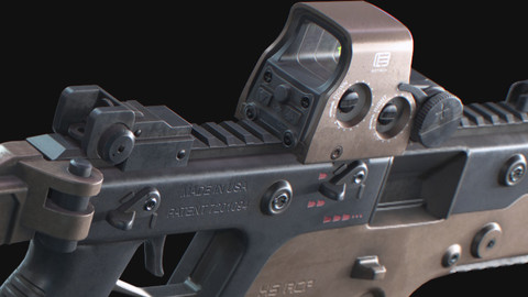 KRISS VECTOR Game ready model