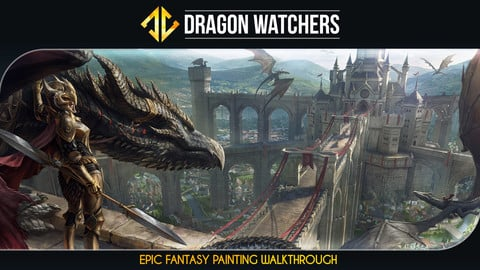 Dragon Watchers - Epic Painting Illustration Tutorial