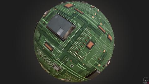 PBR 4K Circuit Board Substance Designer