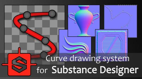 Curve drawing system for Substance Designer