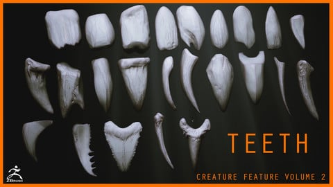 TEETH - Zbrush 24 Assorted Teeth IMM Brush
