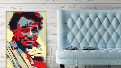 Columbo Poster,Peter Falk Poster,Peter Falk Print,Wall Art Giclee Print,Instant Download,Digital Print,Pop Art,Home Decor Wall Art,Painting