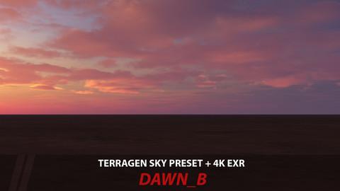 Terragen 4 sky preset -- Dawn_B