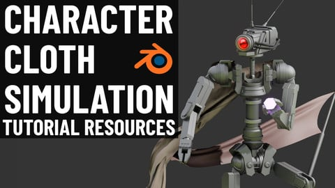 Blender Character Cloth Simulation (Tutorial Resources)