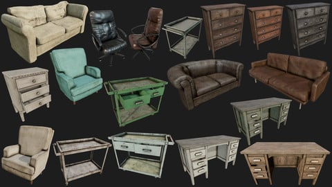 Old Furnitures PBR Collection