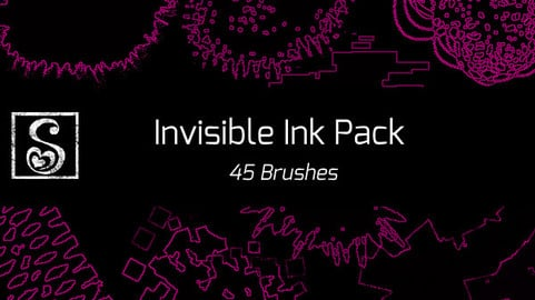 Shrineheart's Invisible Ink Pack - 45 Brushes