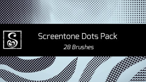 Shrineheart's Screentones Dots - 28 Brushes