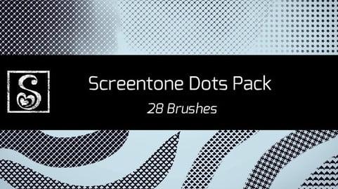 Shrineheart's Screentones Dots - 28 Brushes
