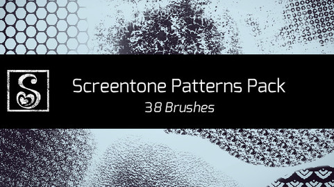 Shrineheart's Screentones Patterns - 38 Brushes