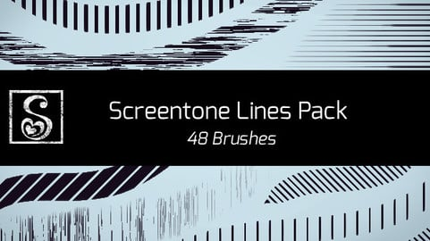 Shrineheart's Screentones Lines - 48 Brushes