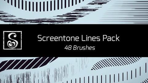 Shrineheart's Screentones Lines - 48 Brushes