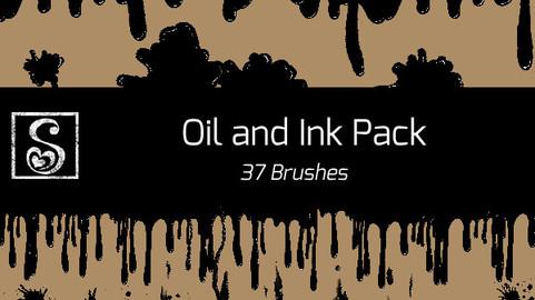 Shrineheart's Oil and Ink Pack - 37 Brushes