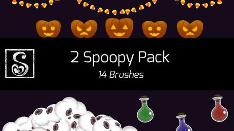 Shrineheart's 2 Spoopy Pack - 14 Brushes
