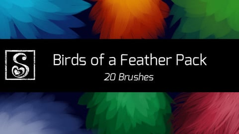 Shrineheart's Birds of a Feather Pack - 20 Brushes