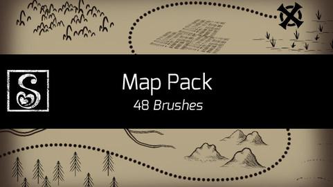 Shrineheart's Map Pack - 48 Brushes
