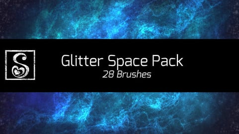 Shrineheart's Glitter Space Pack - 28 Brushes