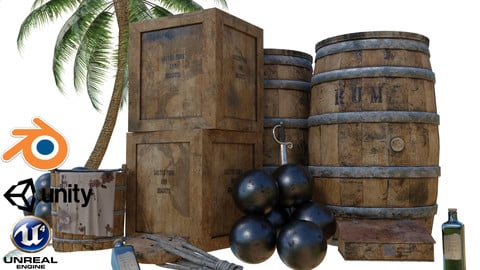 PBR Pirate assets game-ready