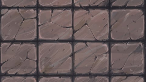 【TEXTURE】-Hand Painted - Low Poly - Floor006